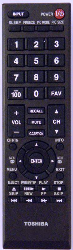 Brand New Replacement Toshiba SE-R0265 DVDR Remote Control P000483240 79103439